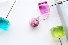 Light pink pendant necklace-Bead crochet necklace-Statement necklace-Sequin necklace-Handmade necklace - Gift for her - Minimalist jewellery