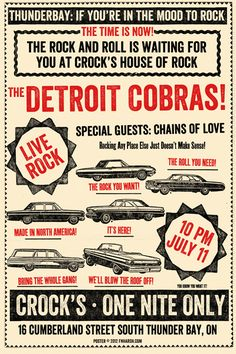 GigPosters.com - Detroit Cobras, The - Chains Of Love