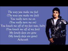 Michael Jackson - The Way You Make Me Feel Lyrics Video (Contemporary Shuffle Rhythm Example) Garter Toss Songs, Michael Jackson's Songs, Michael Jackson Gif, Sing Along Songs, Wedding Music, Dream Wedding, I Feel You, Music Library, Greatest Songs