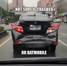 Danadana Batman or a really bad car accident how cares