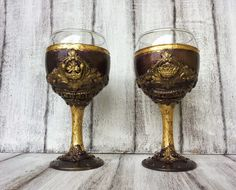 King and queen wine glasses