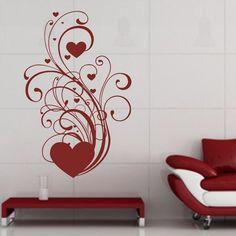 LOVE HEARTS Wall Tattoo, Love Heart, Hearts, Ornaments, Tattoos, Home Decor, Tatuajes, Decoration Home, Room Decor