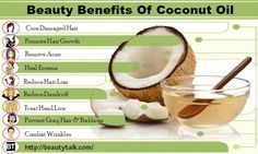 We will be listing out a few of beauty benefits of coconut oil for skin and hair.