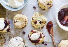 Easy orange & cranberry scones