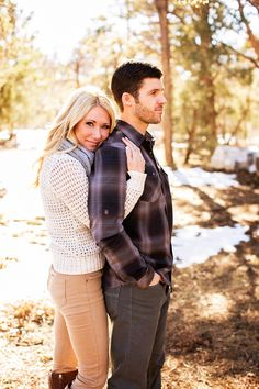 Big Bear engagement photos   ...i think with him looking @ her, this would be perfect
