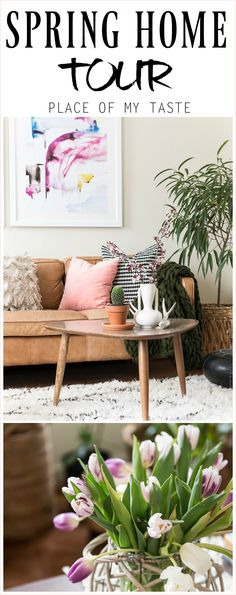 Welcome to my SEASONAL SIMPLICITY SPRING HOME TOUR. Amazing, how some branches, flowers and other small changes can create a different feel.