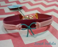 Pink Leather Bracelet by Sweet Subela