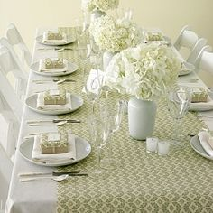 shower or luncheon table setting