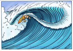 Wilbur Kookmeyer- Surfs Up, Beach Art, Island Life, Ocean Waves, Water Water, Surf City, Surfboards, Spock, Live