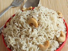 Jeera Rice - Cumin Flavored Rice - Serve with Lentil Soup (Indian Style Dal) or Punjabi Curry - Step by Step photo Recipe Rice Recipes, Indian Food Recipes, Vegetarian Recipes, Cooking Recipes, Curry Recipes, Pressure Cooker Rice, Punjabi Cuisine, Jeera Rice, Vegetarian