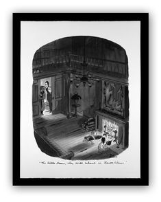 The Little Dears Print by Charles Addams