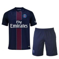PSG Home 2016-17 Season Soccer Kit Shirt and Shorts [G49]