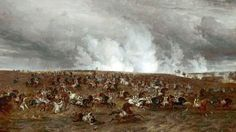 The Battle of Waterloo, 16–19 June 1815, the Defeat of Kellerman's Cuirassiers by Thomas Sidney Cooper