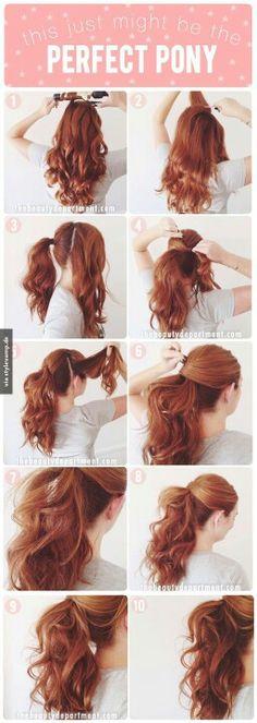 #long #waves #ponytail