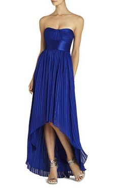 Alicia Silk Charmeuse Sash Gown | BCBG Price: $460  Definitely out of our budget, but I just wanted to see how you felt about the pleating and the sash.. the color and neckline are gorgeous...