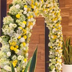 #yellow #weddingtheme #flowerdecoration #flowergate #gallerytable #receptiontable #pingpong #welcomedrinks Flower Decorations, Wedding Decorations, Reception Table, Gate, Buildings, Yellow, Flowers, Plants, Florals