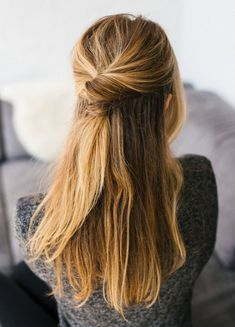 Coiffure mariage : Hair Tutorial: Two-Minute Twist Back To School Hairstyles, Quick Hairstyles, Down Hairstyles, Pretty Hairstyles, Wedding Hairstyles, Hairstyle Ideas, Hairstyles Pictures, Everyday Hairstyles, African Hairstyles