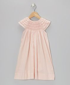 Take a look at this Pink Flower Smocked Ruffle Dress - Infant & Toddler by Les Petits Soleils by Fantaisie Kids on #zulily today!