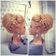 Für kathi für lap - New Site Fancy Hairstyles, Braided Hairstyles, Wedding Hairstyles, Hair Up Styles, Wedding Hair Inspiration, Pinterest Hair, Hair Dos, Hair Designs, Bridal Hair