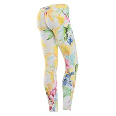 WR.UP® SHAPING EFFECT - 7/8 LEGGINGS - WHITE PATTERNED PRINT
