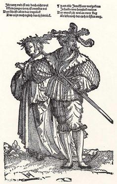 Artist: Schäufelein, Hans Leonhard, Title: Der Fürstentanz, tanzendes Paar, Date: ca. 1535
