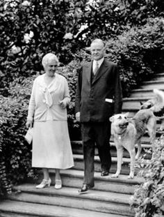 President Herbert Hoover, right, is shown with first lady Lou Henry Hoover and their dogs in Washington, D., on June in the final year of his presidential term. Republican Presidents, Us Presidents, German Shepherd Names, President Ronald Reagan, Herbert Hoover, Surprises For Her, American Presidents, Best Friend Pictures