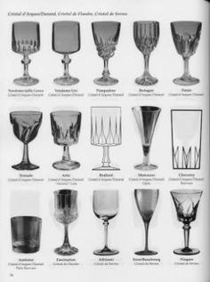 Crystal Glassware Pattern Identification | Crystal Stemware Glass Pattern Etchings ID Replacements