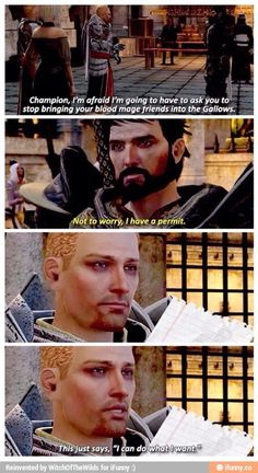 Hawke's personality in a nutshell.