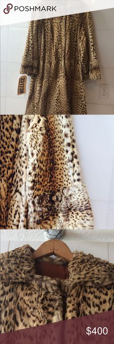 vintage1960's real fur coat i dont know about fur but it looks like lynx or bobcat fur. 🌹REASONABLE OFFERS WILL BE ACCEPTED.  its in excellent condition fur is in pristine condition kept in proper fur storage, inside lining is clean and v good condition only flaw is inside collar is has minor flaws. brioda's west verginia Jackets & Coats