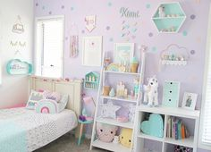 Pastel goodness in this adorable kids room by pastel__haven - Do it yourself Big Girl Bedrooms, Little Girl Rooms, Girls Bedroom, Bedroom Decor, Toddler Girl Rooms, 6 Year Old Girl Bedroom, Purple Bedrooms, Little Girls Room Decorating Ideas Toddler, Kids Bedroom Ideas For Girls Toddler