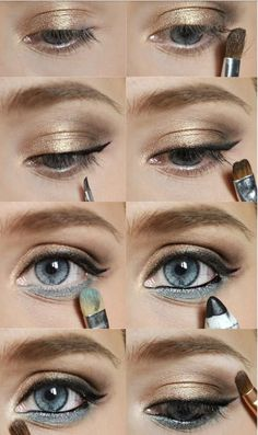 Blue eyeshadow under your eyes! Makes a difference