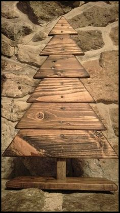 Something like this for inside use may be number 2 or 3 for the Christmas tree projects. It will be inside use only and will be small. Wooden Christmas Tree Pallet Christmas Tree Holiday Christmas Decor Home Decor… Pallet Wood Christmas, Wooden Christmas Crafts, Wooden Christmas Decorations, Wood Christmas Tree, Xmas Crafts, Outdoor Christmas, Rustic Christmas, Christmas Projects, Christmas Holidays
