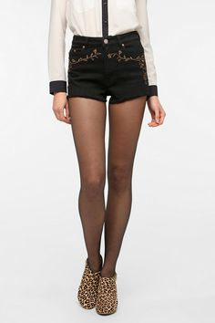 BDG Embroidered High-Rise Cheeky Short $40  #UrbanOutfitters