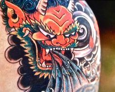 Ed Hardy Red Dragon Face Tattoo