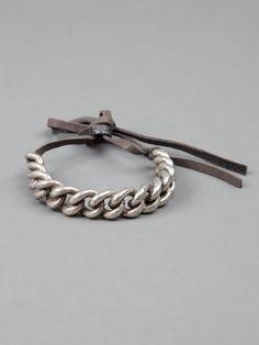 goti bracelet | Goti Curb Chain Bracelet in Silver for Men (black) | Lyst