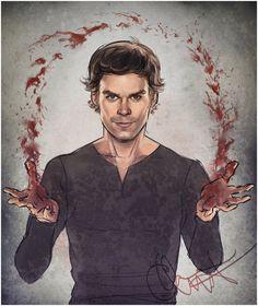 Dexter Morgan Fan Art | blood magic by lanachestnut fan art digital art painting airbrushing ...