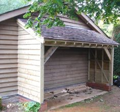 Shed Plans - on the side of the garage for garde .. - CLICK THE PICTURE for Various Shed Plan Ideas. #diyproject #sheddesigns #Freeplansforyourownshed