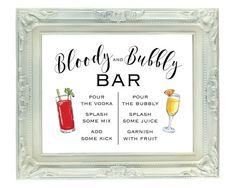 Bloody and Bubble Bar 8x10 Printable by VividBlissPrintables