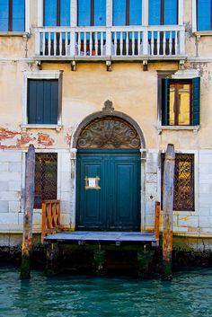 Venetian entrance.  Venice, Veneto Region, Italy.