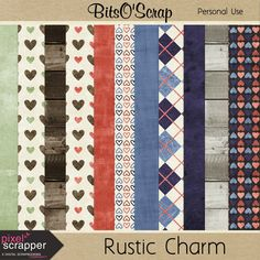 FREE Bits O'Scrap: Pixel Scrapper February 2015 Blog Train - Rustic Charm