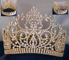 Gold Quinceanera Crown:
