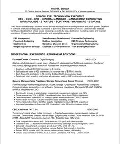 Ceo  Cfo Executive Resume Example  Executive Resume Resume