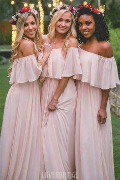 Light Blush Pink Chiffon Cheap Long Bridesmaid Dresses Online, WG293  #bridesmaid #wedding #bridesmaiddresses #cheapbridesmaiddresses #weddingidea #longbridesmaiddresses #bridesmaidsdresses Bridesmaid Dresses Online, Wedding Bridesmaid Dresses, Wedding Party Dresses, Homecoming Dresses, Dress Prom, Dress Long, Pageant Dresses, Robes For Bridesmaids, Blush Colored Bridesmaid Dresses