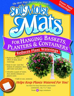 Amazon.com : Soil Moist Mats For Hanging Baskets Planters and Containers 6pc Pack : Soil And Soil Amendments : Patio, Lawn & Garden