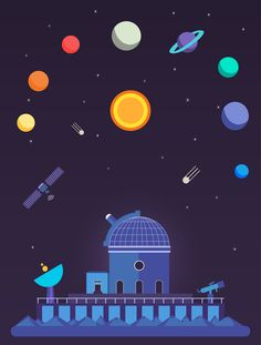 Space Observatory Poster on Behance