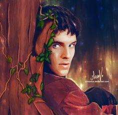 I wanna live in Magic-land with Merlin by *rumonica on deviantART (Merlin Emrys, Colin Morgan, Merlin Fanart)