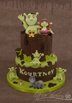 Shrek Cake by Little Cherry Cake Company (T-Cakes) (3/18/2013) View details here: http://cakesdecor.com/cakes/53695