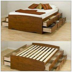 Cama multiuso camas e quartos criativos pinterest - Cajonera bajo cama ...