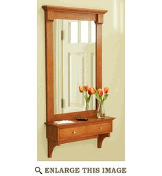 Shelf and Mirror Woodworking Plan, Indoor Home Furniture Project Plan   WOOD Store