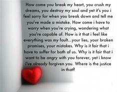 Heart broken teen poems